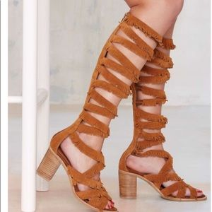 Jeffrey Campbell enyo moccasin gladiator sandals